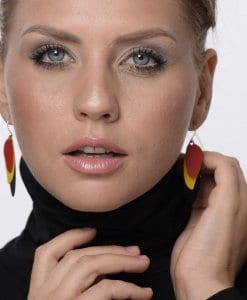 Colorful waves earrings