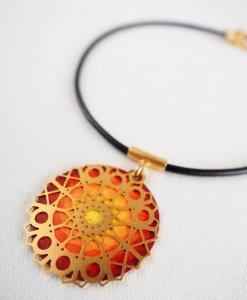 Plexus mandala necklace