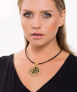 שרשרת ויטראז' מודרנית - שחור זהב