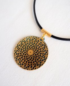 """Mandala necklace """"seed of life"""" turquoise"""