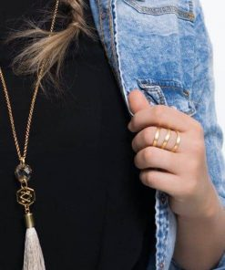 טבעת לוטוס מוזהבת