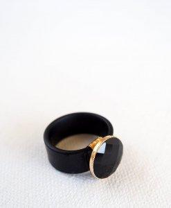 טבעת סיליקון אורבנית שחורה