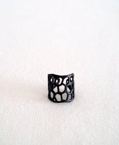 טבעת פסיפס מודרנית שחורה