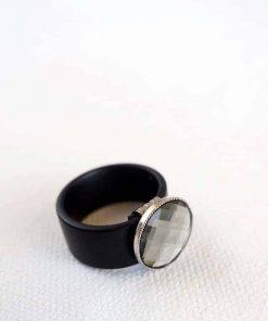 Gray urban silicon ring