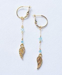 Angel wings earrings