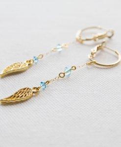 עגילי כנפי מלאכים