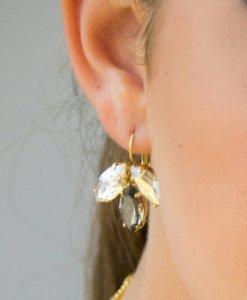 Sparkling petals earrings
