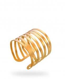 A modern urban gilt strip bracelet