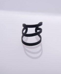 Ring 3 black stripes
