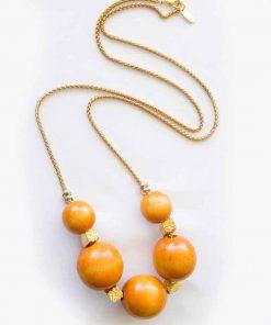Orange Wood Tatch Necklace