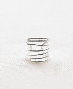 טבעת פסים מוכספת